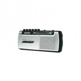 Radio Cassette Daewoo DRP-107 Gris con Radio Micrófono
