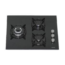 Placa Rommer VG-3 FG Cristal Negro 3 Fuegos Butano