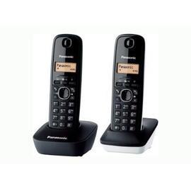 Telef.Inalambricoduo PANASONIC kxtg1612 sp1 blanco-negro Panasonic