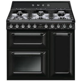 cocina-victoria-negra-90x60-cm-3-hornos-encimera-gas-clase-a-tr93bl-smeg