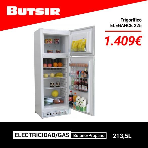 BUTSIR ELEGANCE 225 - Frigorífico dos Puertas Electricidad/Gas