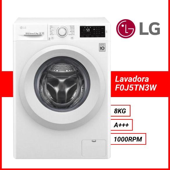 Lavadora LG F0J5TN3W 8KG 1000RPM A+++ Blanco LED